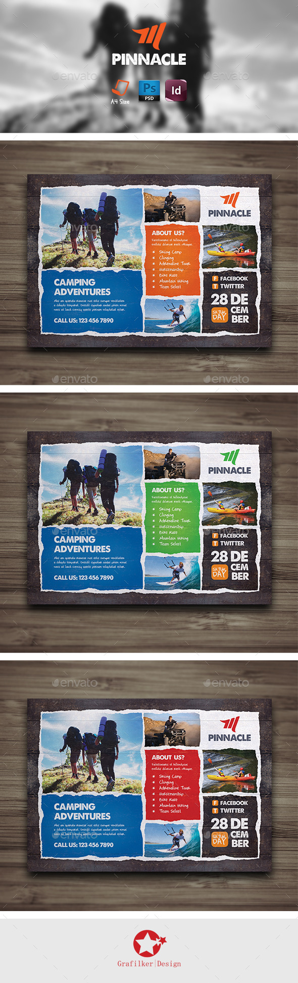 GraphicRiver Camping Adventure Flyer Templates 9300649