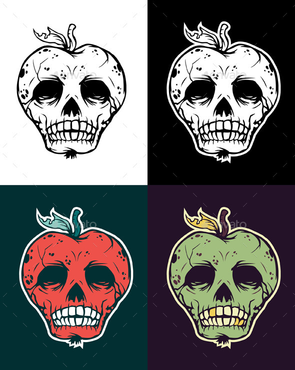 GraphicRiver Apple Skull 9300738