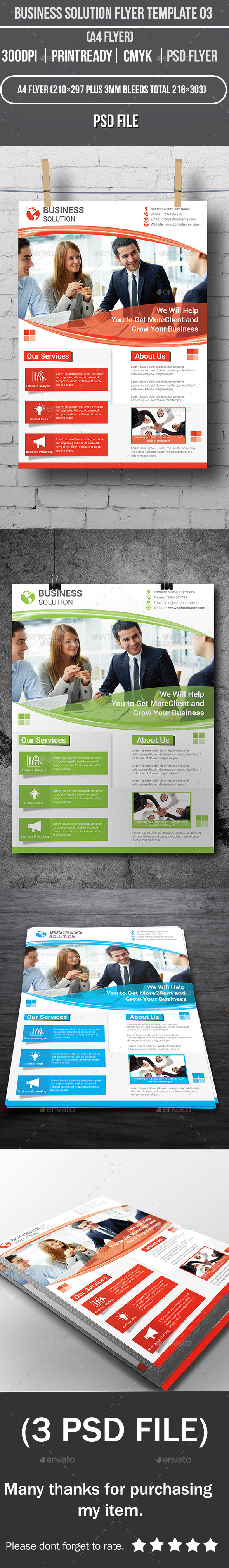 GraphicRiver Business Solution Flyer Template 03 9253670