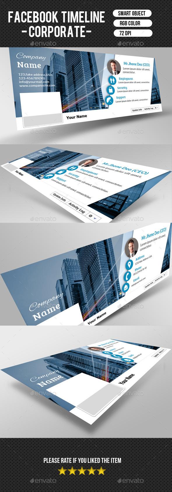 GraphicRiver Corporate FacebookTimeline-V04 9267686