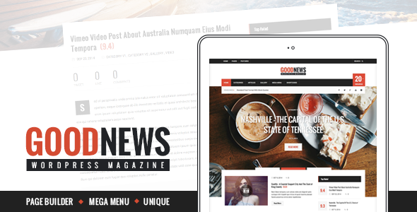 ThemeForest GoodNews The News Magazine and Blog Theme 9301424
