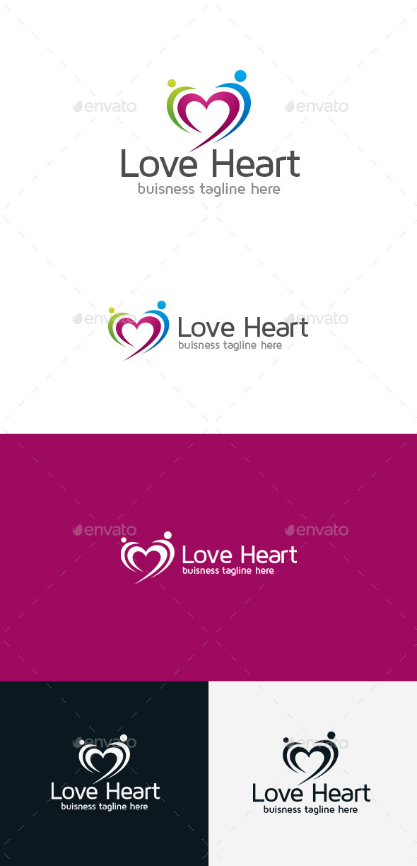GraphicRiver Love Heart Logo 9301441