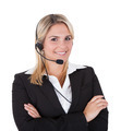 Beautiful Customer Service Representative With Arms Crossed - PhotoDune Item for Sale