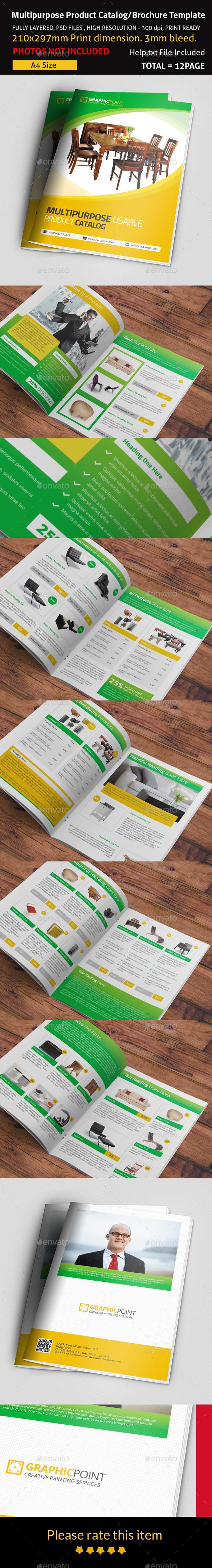 GraphicRiver Multipurpose Product Catalog Brochure Template 9301558