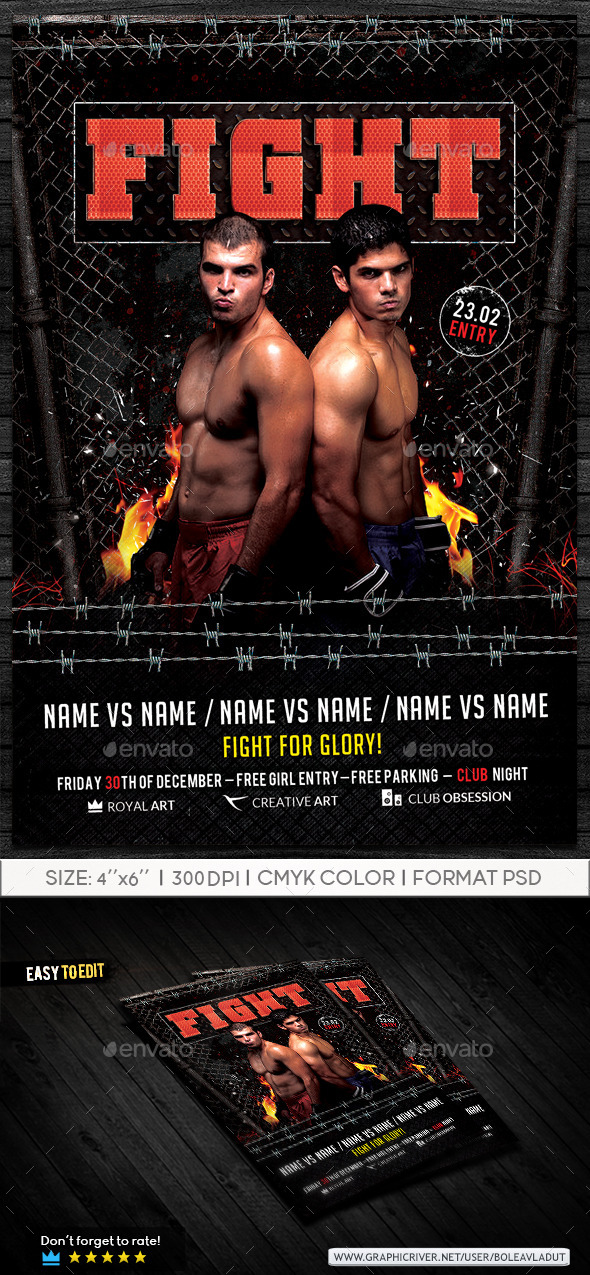 GraphicRiver Flyer Fight Night 9301671