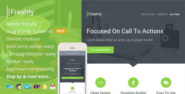 ThemeForest Freshty Fresh Responsive Email with Theme Builder 9301724