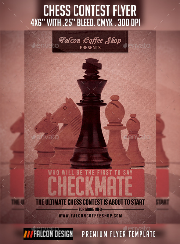 GraphicRiver Chess Competition Flyer 9301855