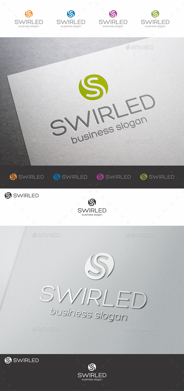 GraphicRiver Swirled S Letter Logo 9302942
