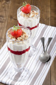 trifle with whipped cream and strawberry - PhotoDune Item for Sale
