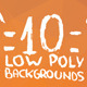 10 Low Poly Backgrounds Pack One - GraphicRiver Item for Sale