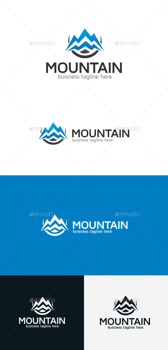 GraphicRiver Mountain Logo 9303409