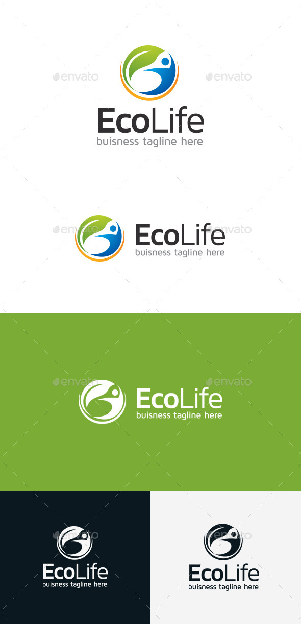 GraphicRiver Eco Life Logo 9303612