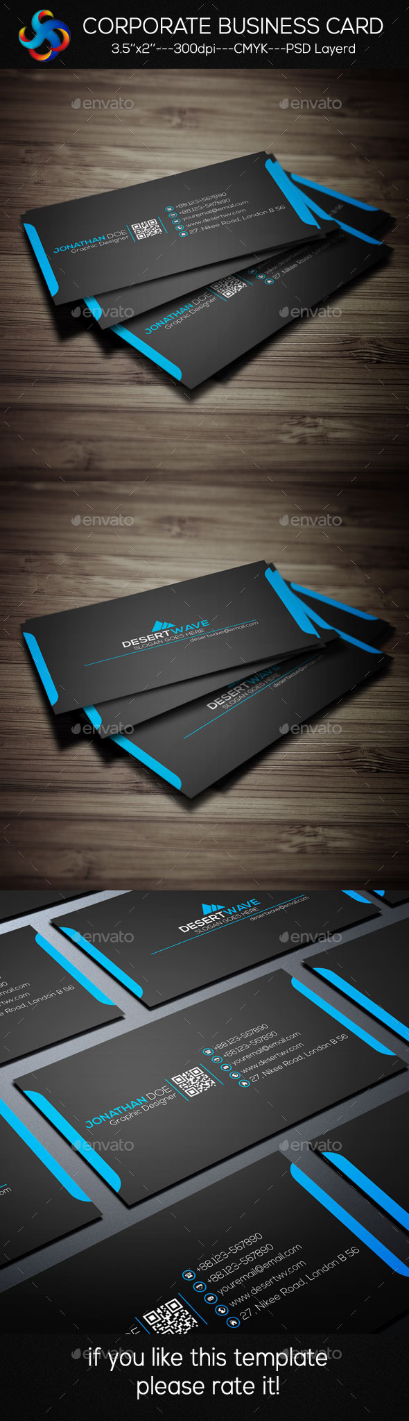 GraphicRiver Corporate Business Card 9303759