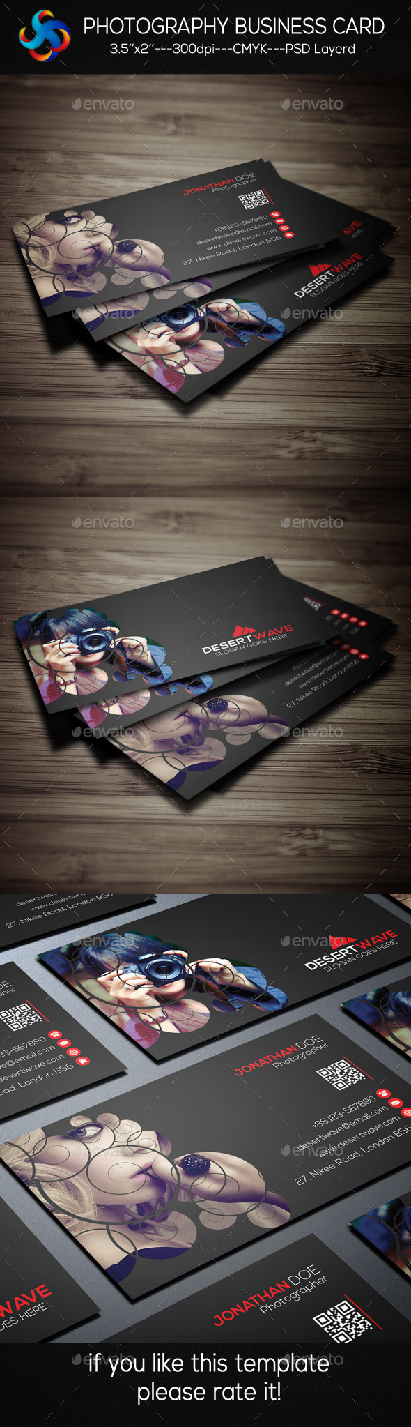 GraphicRiver Photography Business Card 9303762