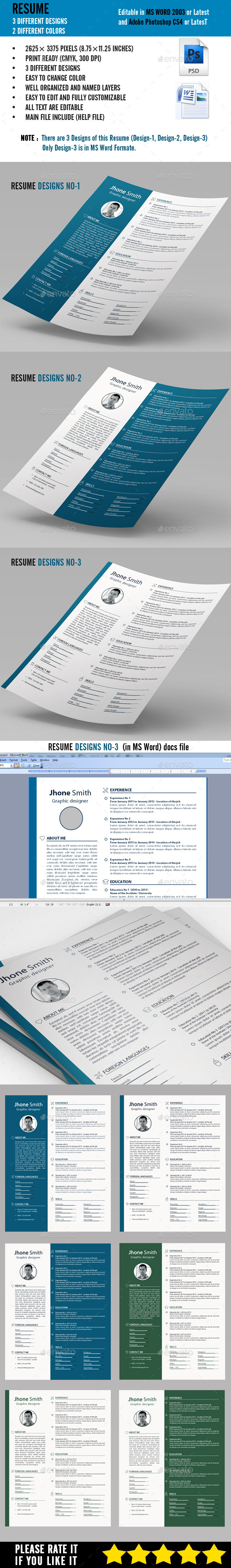 GraphicRiver Resume 9303974