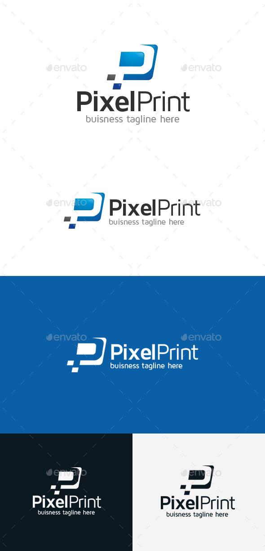 GraphicRiver Pixel Print P Letter Logo 9303975