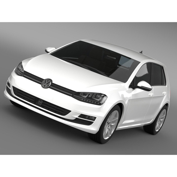 VW Golf TDI 4MOTION 5d Typ 5G 2013 - 3DOcean Item for Sale
