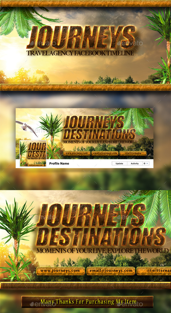 GraphicRiver Travel Agency FB Cover 9304409