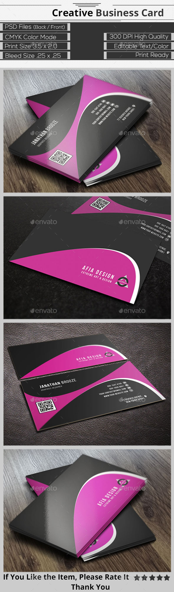 GraphicRiver Clean Creative Business Card 9304756