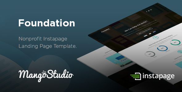Foundation - Non-Profit Instapage Landing page Download