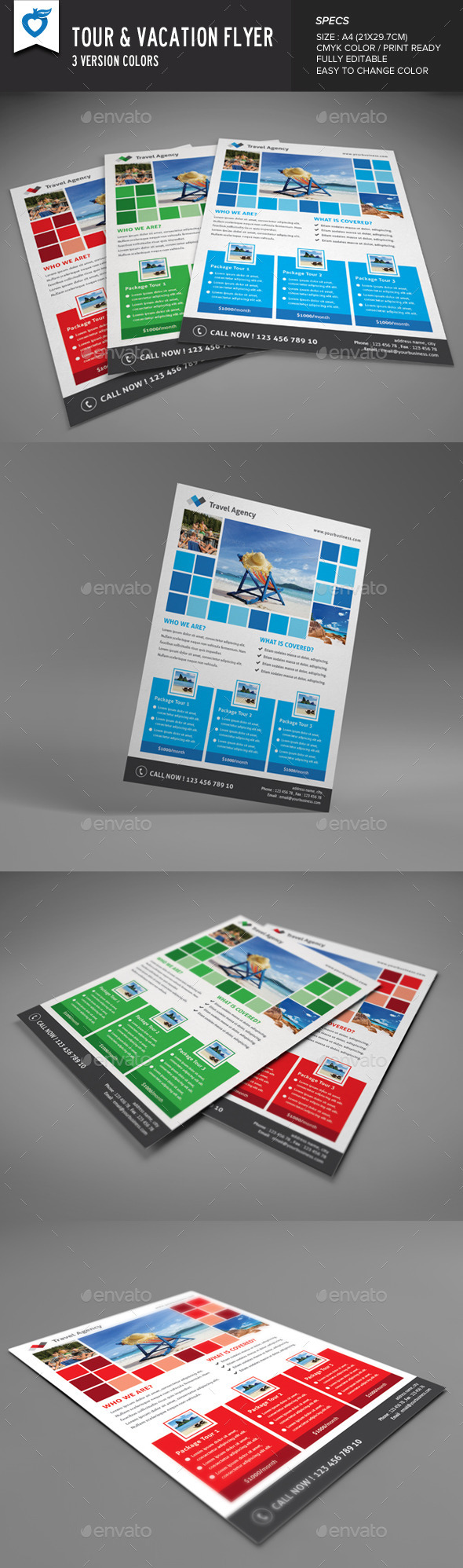 GraphicRiver Travel & Vacation Flyer 9304830