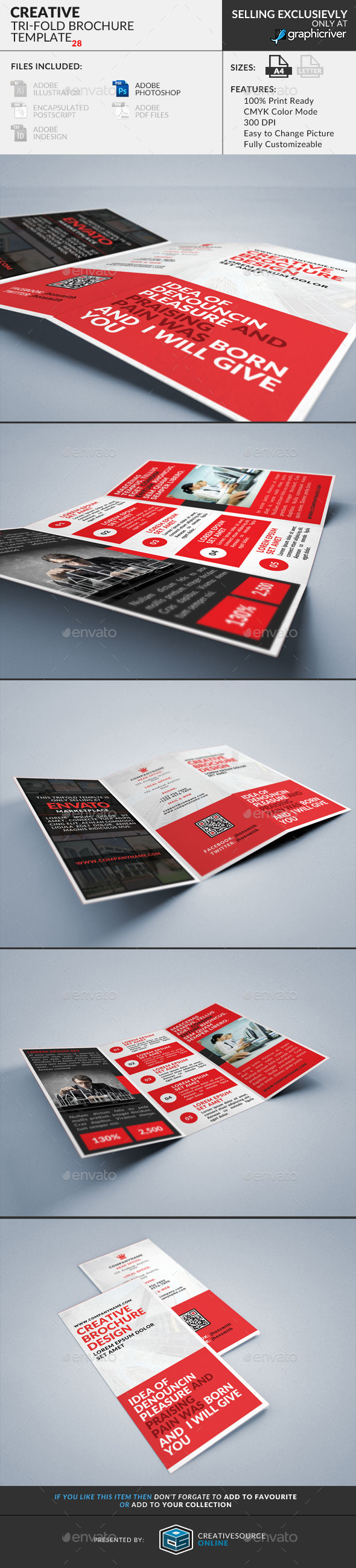 GraphicRiver Trifold Brochure 28 Creative 9304838