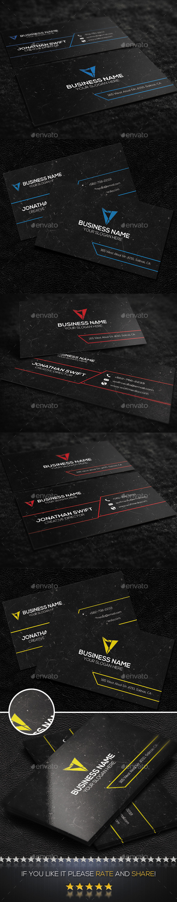 GraphicRiver Corporate Business Card No.05 9304889