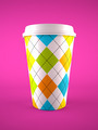 coffee cup isolated on purple background - PhotoDune Item for Sale