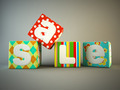 Sale word on colorful fabric cubes - PhotoDune Item for Sale