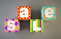 Sale word on colorful fabric cubes 2 - PhotoDune Item for Sale