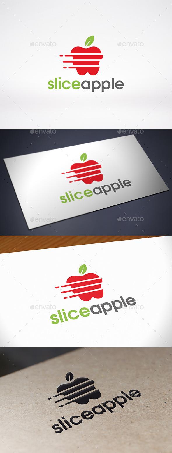 GraphicRiver Slice Apple Logo Template 9305001