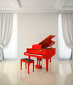 Room in classic style with red piano - PhotoDune Item for Sale