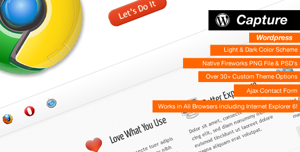 Capture - Professional Wordpress Theme