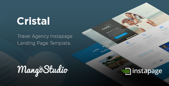 Cristal - Travel Agency Instapage Template