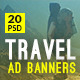 Travel - Vacation Web Ad Marketing Banners Vol 6 - GraphicRiver Item for Sale