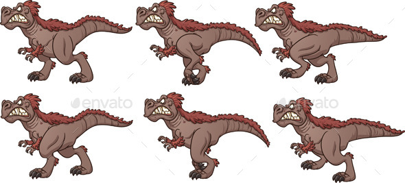 GraphicRiver Walking T-Rex 9305593