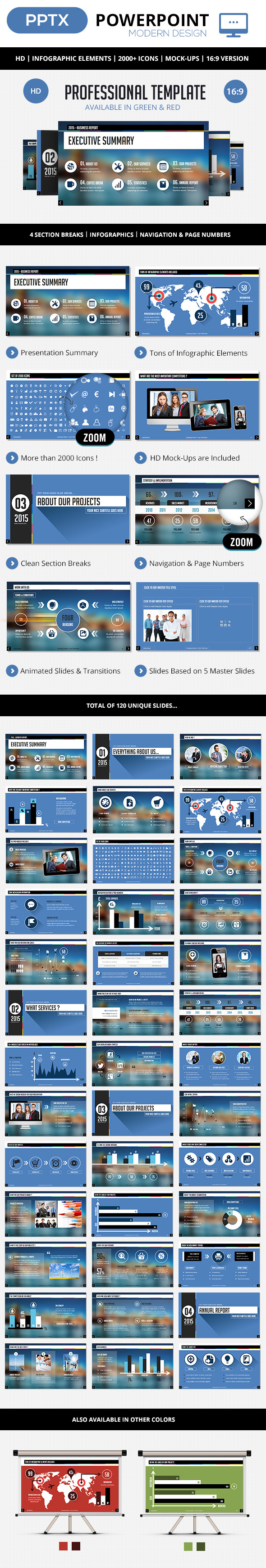 GraphicRiver Professional PowerPoint Corporate Template 9306067