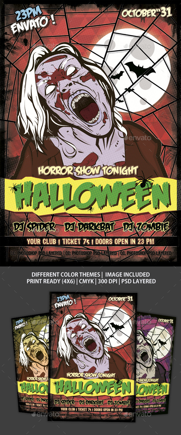 GraphicRiver Flyer Halloween 9262064