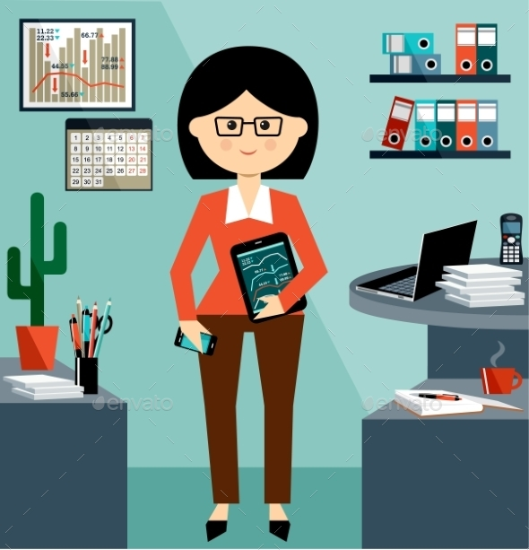 GraphicRiver Business Woman 9306113
