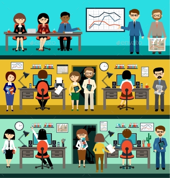 GraphicRiver People in Flat Style Design 9306118