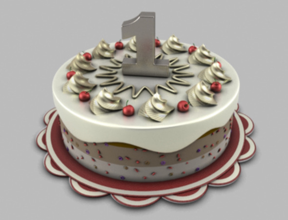 Holiday Christmas cake - 3DOcean Item for Sale