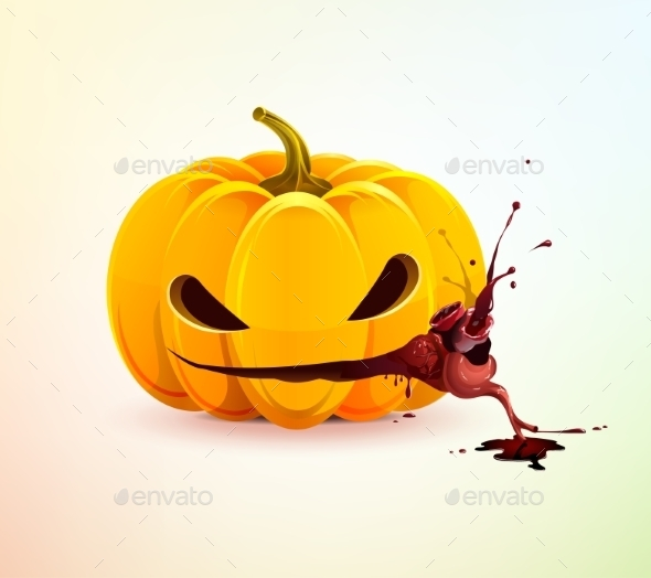 GraphicRiver Evil Pumpkin with Heart 9306325