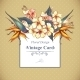 Floral Vintage Card with Exotic Flowers - GraphicRiver Item for Sale