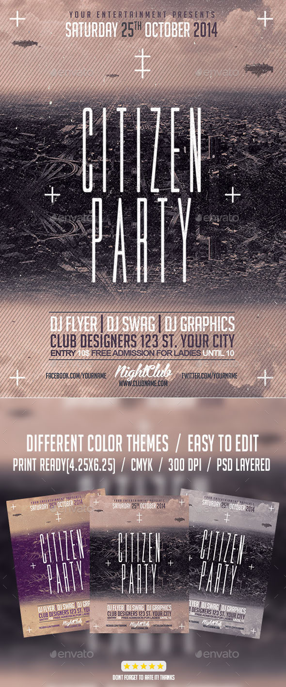 GraphicRiver Citizen Alternative Party Flyer 8067553