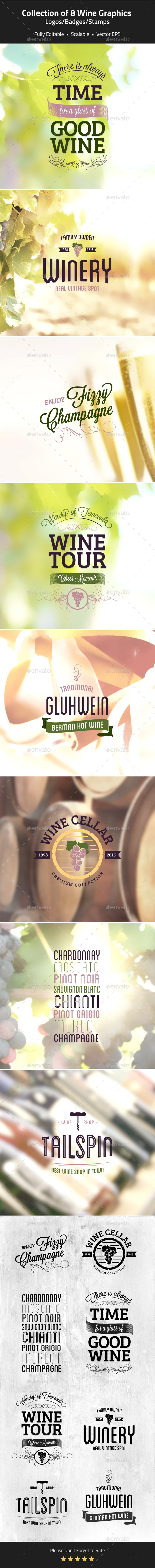 Wine Logos Badges Stamps