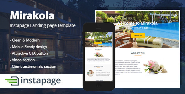 Themeforum mirakola instapage landing page template for Jquery landing page templates