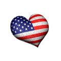 Grunge Heart Shaped Usa Flag 3d - PhotoDune Item for Sale