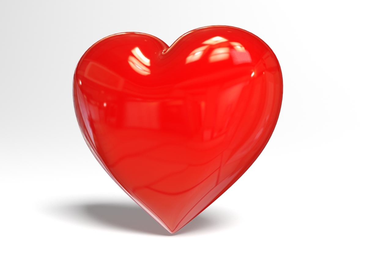 how to draw a love heart in 3d