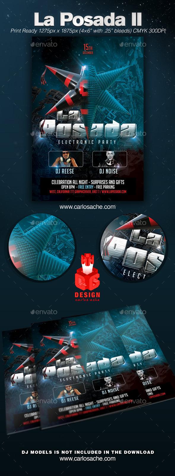 GraphicRiver La Posada II Party Flyer 9307877