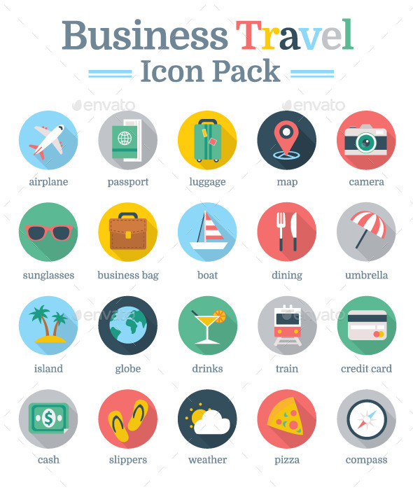 GraphicRiver Business Travel Icon Pack 9308061
